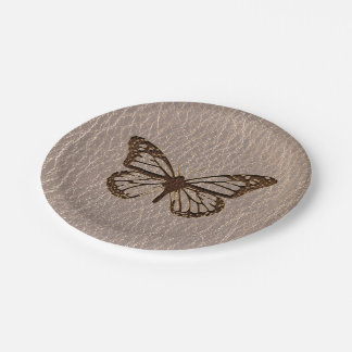 Leather-Look Butterfly Soft Paper Plate