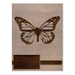 Leather-Look Butterfly Soft Post Card