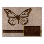 Leather-Look Butterfly Soft Postcards