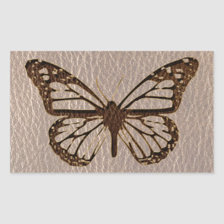 Leather-Look Butterfly Soft Rectangular Sticker