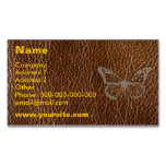 Leather-Look Butterfly Magnetic Business Cards (Pack Of 25)