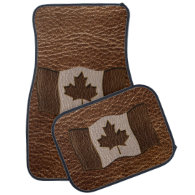 Leather-Look Canada Flag Floor Mat