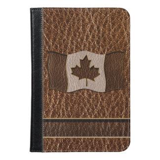 Leather-Look Canada Flag iPad Mini Case
