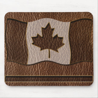 Leather-Look Canada Flag Mouse Pad