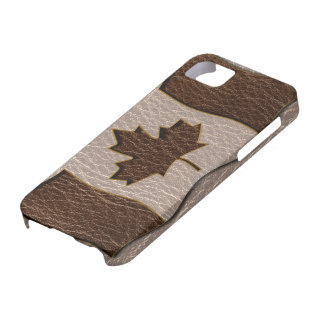 Leather-Look Canada Flag Soft iPhone SE/5/5s Case