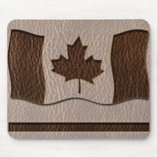 Leather-Look Canada Flag Soft Mouse Pad