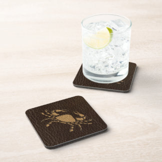 Leather-Look Cancer Coaster