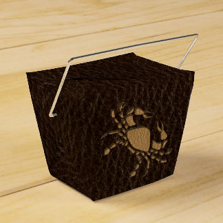 Leather-Look Cancer Favor Box