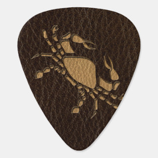 Leather-Look Cancer Guitar Pick