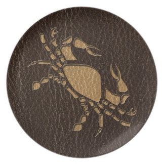 Leather-Look Cancer Plate