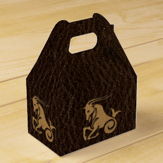 Leather-Look Capricorn Favor Box