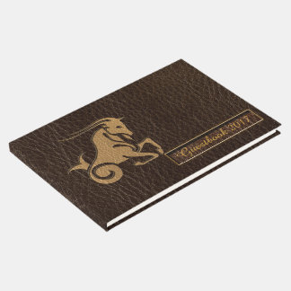 Leather-Look Capricorn Guest Book