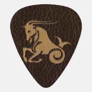 Leather-Look Capricorn Guitar Pick