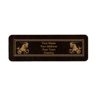 Leather-Look Capricorn Label