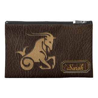 Leather-Look Capricorn Travel Accessories Bag