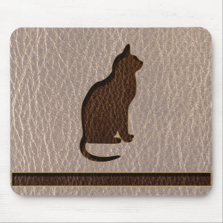 Leather-Look Cat Soft Mouse Pad