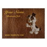 Leather-Look Dog Business Card Templates