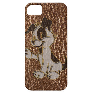 Leather-Look Dog iPhone SE/5/5s Case