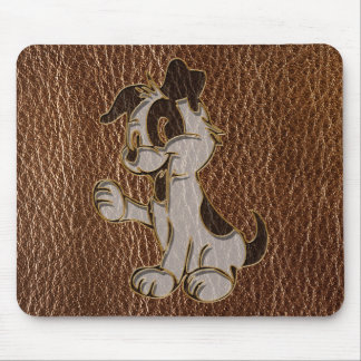 Leather-Look Dog Mouse Pad