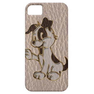 Leather-Look Dog Soft iPhone SE/5/5s Case