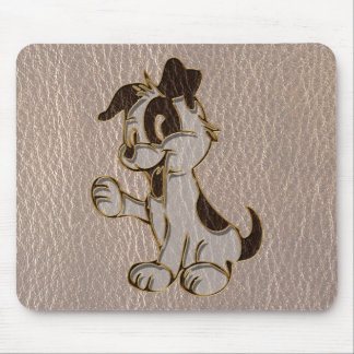 Leather-Look Dog Soft Mouse Pad