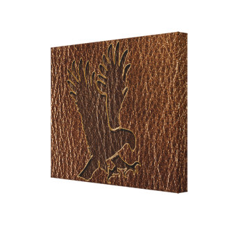 Leather-Look Eagle Canvas Prints