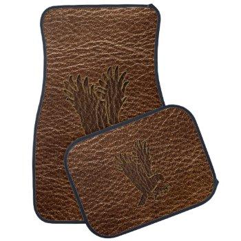 Leather-Look Eagle Car Floor Mat