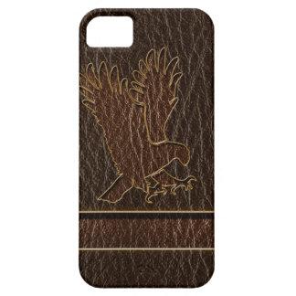 Leather-Look Eagle Dark iPhone SE/5/5s Case