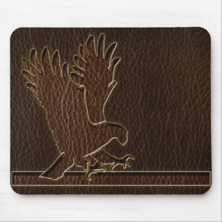 Leather-Look Eagle Dark Mouse Pad