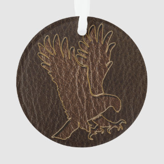 Leather-Look Eagle Dark Ornament