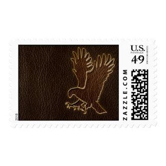 Leather-Look Eagle Dark Postage