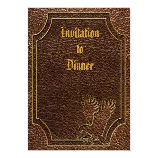 """Leather-Look Eagle 5"""" X 7"""" Invitation Card"""