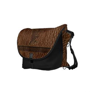 Leather-Look Eagle Messenger Bag