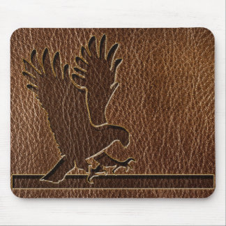 Leather-Look Eagle Mouse Pad