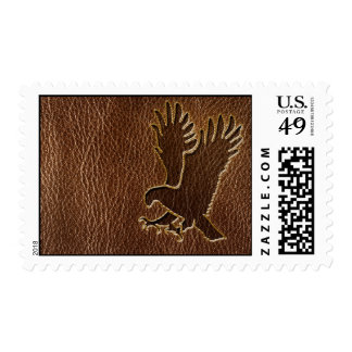 Leather-Look Eagle Postage Stamp