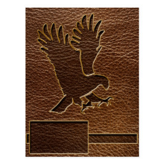 Leather-Look Eagle Postcard