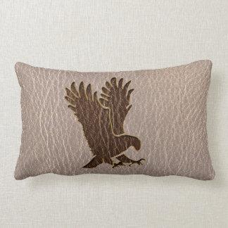 Leather-Look Eagle Soft Lumbar Pillow