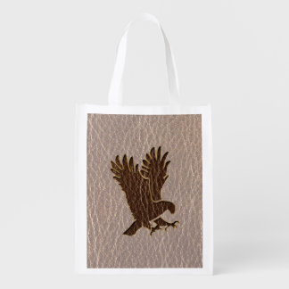 Leather-Look Eagle Soft Reusable Grocery Bag