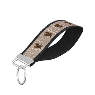 Leather-Look Eagle Soft Wrist Keychain
