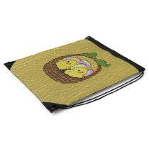 Leather-Look Easter Basket Drawstring Bag