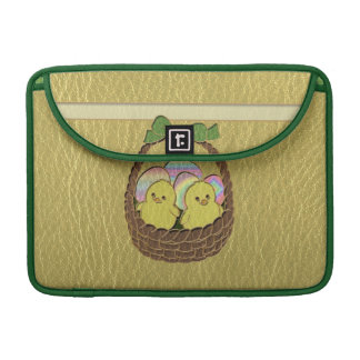 Leather-Look Easter Basket MacBook Pro Sleeve