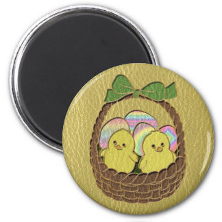 Leather-Look Easter Basket Magnet