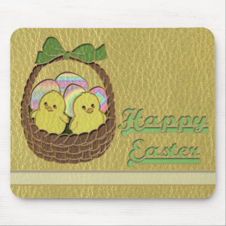 Leather-Look Easter Basket Mouse Pad