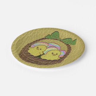 Leather-Look Easter Basket Paper Plate