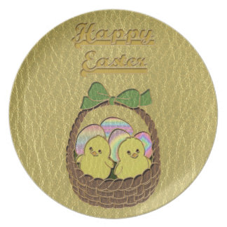 Leather-Look Easter Basket Plate