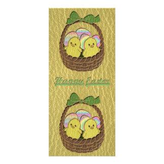 Leather-Look Easter Basket Rack Card