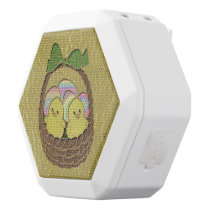 Leather-Look Easter Basket White Bluetooth Speaker