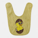 Leather-Look Easter Chicken Baby Bibs