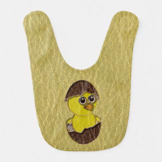 Leather-Look Easter Chicken Baby Bibs