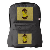 Leather-Look Easter Chicken Backpack
